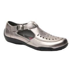 Women's Ros Hommerson Cameo Fisherman Sandal Pewter Leather