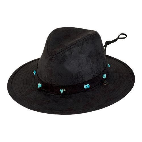 dee207a747c Shop Women s San Diego Hat Company Fedora with Turquoise Beads CTH8032  Black - Free Shipping On Orders Over  45 - Overstock.com - 12122410
