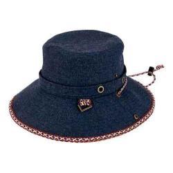 Women's San Diego Hat Company Denim Bucket Hat with Chin Cord CTH8050 Denim