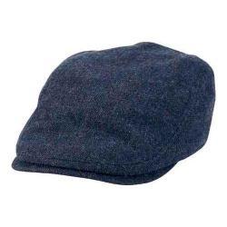 Women's San Diego Hat Company Driver Flat Cap CTH8049 Denim