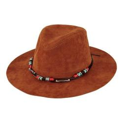 Women's San Diego Hat Company Faux Suede Fedora CTH8038 Tobacco