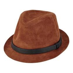 Men's San Diego Hat Company Faux Suede Fedora CTH8052 Tobacco