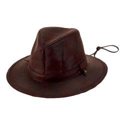 Men's San Diego Hat Company Faux Suede Fedora with Chin Cord CTH8053 Brown