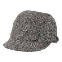 Women's San Diego Hat Company Herringbone Cadet Cap CTH8047 Black/White