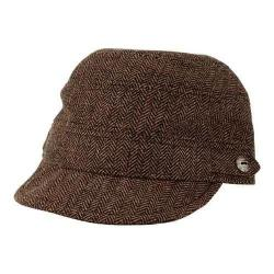 Women's San Diego Hat Company Herringbone Cadet Cap CTH8047 Brown