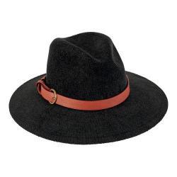 Women's San Diego Hat Company Knit Fedora KNH3393 Black