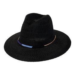 Women's San Diego Hat Company Knit Fedora KNH3394 Black