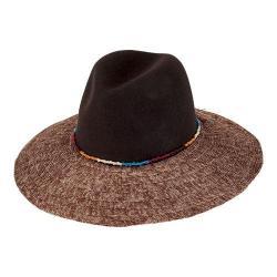 Women's San Diego Hat Company Wool Felt Fedora WFH8031 Brown