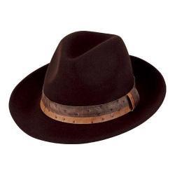 Men's San Diego Hat Company Wool Felt Fedora WFH8032 Brown