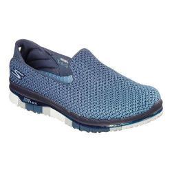 Women's Skechers GO FLEX Walk Lotus Slip On Walking Shoe Navy/Blue