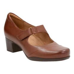 Women's Clarks Rosalyn Wren Dark Tan Cow Full Grain Leather