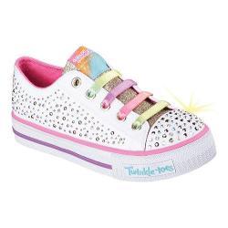 Girls' Skechers Twinkle Toes Shuffles Twirly Toes Sneaker White/Multi