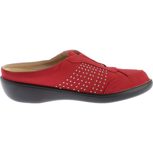 Women's Beacon Shoes Rosemary Clog Red Studded Lamy Polyurethane - Thumbnail 1