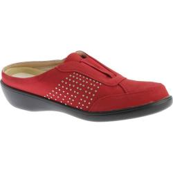 Women's Beacon Shoes Rosemary Clog Red Studded Lamy Polyurethane