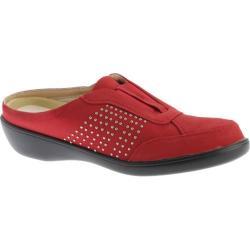 Women's Beacon Shoes Rosemary Clog Red Studded Lamy Polyurethane