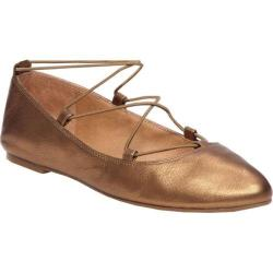 Women's Lucky Brand Aviee Flat Old Bronze Leather
