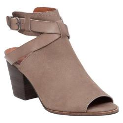 Women's Lucky Brand Harum Open Toe Bootie Brindle Leather