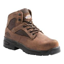 Men's Dickies Buffer Steel Toe Boot Brown Full Grain Leather