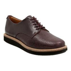 Women's Clarks Glick Darby Lace Up Shoe Aubergine Combination Full Grain Leather