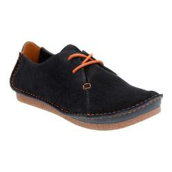 Women's Clarks Janey Mae Lace Up Shoe Navy Suede