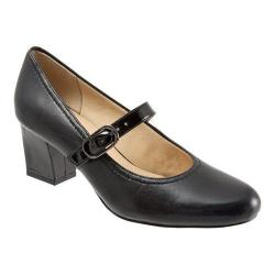 Women's Trotters Candice Mary Jane Black/Black Dress Leather/Patent