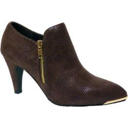 Women's Bellini Grace Bootie Brown Lizard Fabric