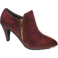 Women's Bellini Grace Bootie Burgundy Lizard Fabric