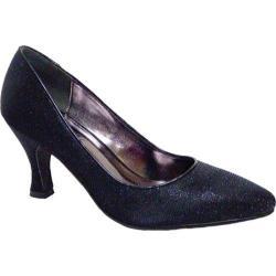 Women's Bellini Zoot Pump Black Glitter Fabric