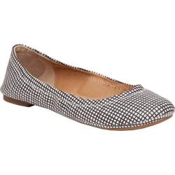 Women's Lucky Brand Emmie Flat Black White Leather