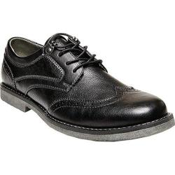 Men's Madden Castor Wing Tip Oxford Black Synthetic