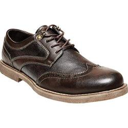 Men's Madden Castor Wing Tip Oxford Dark Brown Synthetic