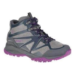 Women's Merrell Capra Bolt Leather Mid Waterproof Boot Grey/Purple