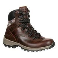 Men's Rocky 7in Stratum Waterproof Outdoor Boot Brown Full Grain Leather/Nylon
