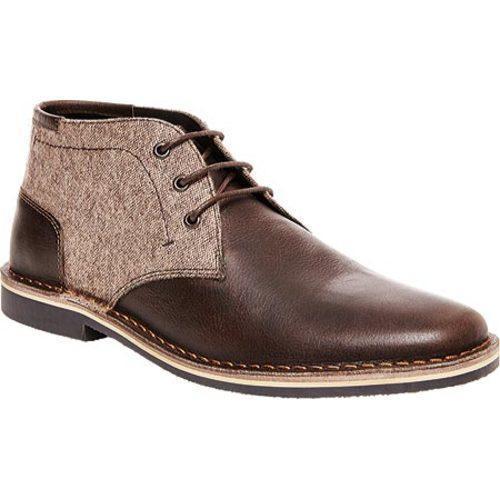 62e43c9b4ff Men's Steve Madden Harken Chukka Brown Multi Leather/Fabric