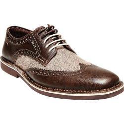 Men's Steve Madden Lookus Wing Tip Oxford Brown Multi Leather/Textile