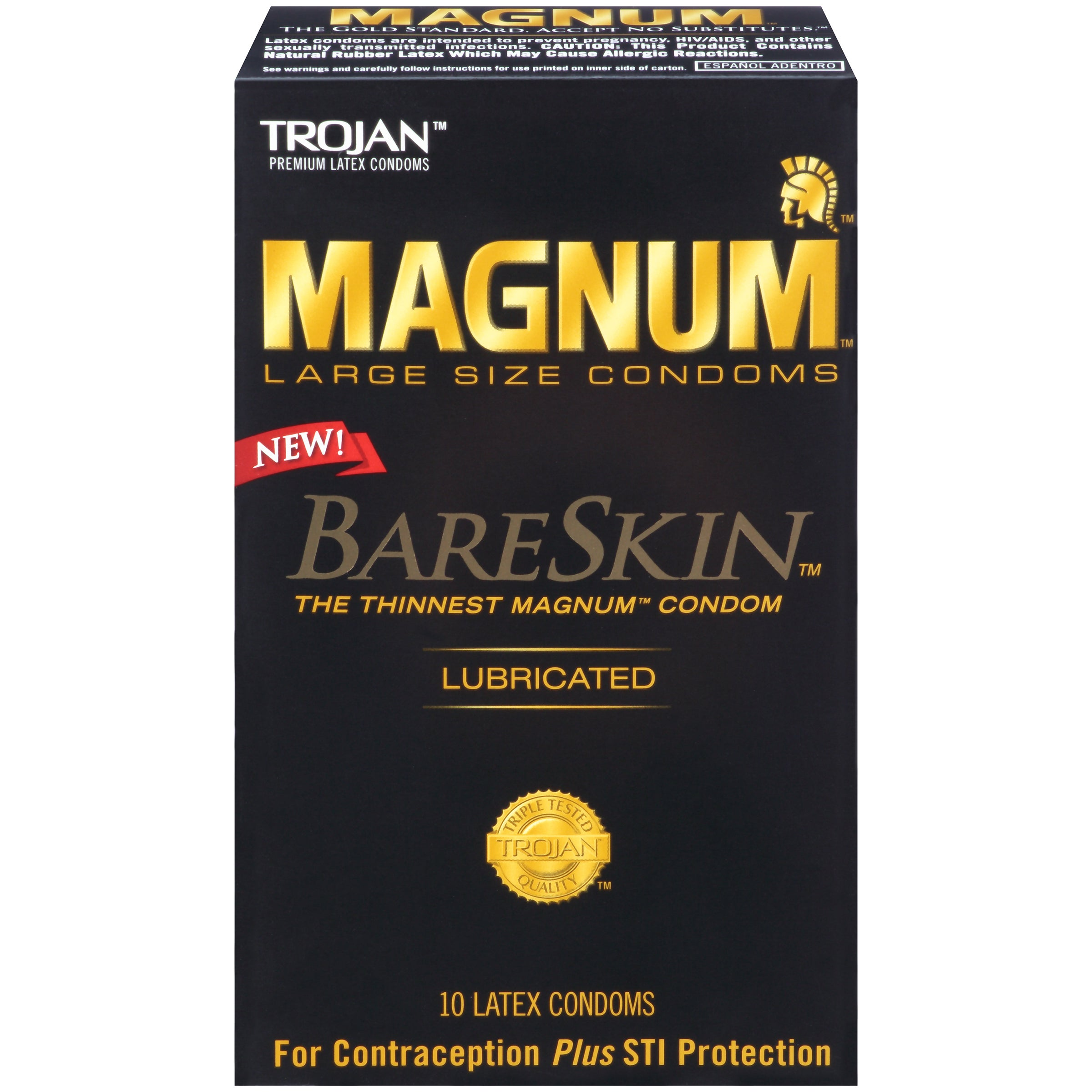 Trojan Magnum Bareskin Lubricated Condoms (Pack of 10)