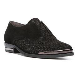 Women's Fergie Footwear Inca Perforated Oxford Black Perforated Suede