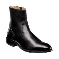Men's Florsheim Capital Plain Toe Zip Boot Black Smooth Leather