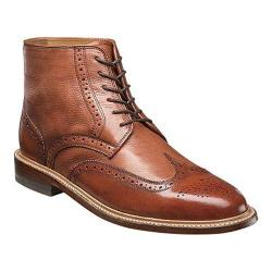 Men's Florsheim Heritage Wingtip Boot Cognac Smooth/Milled