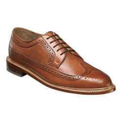 Men's Florsheim Heritage Wingtip Oxford Cognac Smooth Leather/Milled