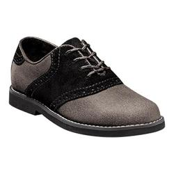 Boys' Florsheim Kennett Saddle Oxford Jr. II Stone Suede/Black/Black Sole