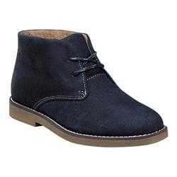 Boys' Florsheim Quinlan Chukka Boot Jr. II Navy Suede/Olive Sole