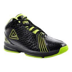 Men's Peak E21071A Basketball Shoe Black/Bright Green