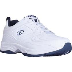 Men's Propet Warner White/Navy Leather/Polyurethane