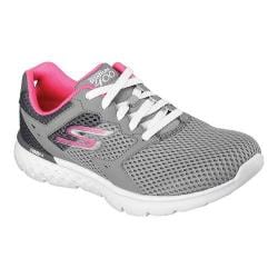 Women's Skechers GOrun 400 Running Shoe Charcoal/Hot Pink