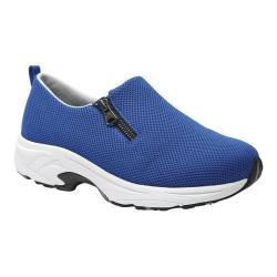 Women's Drew Swift Athleisure Zip-Up Sneaker Royal Blue Mesh Fabric