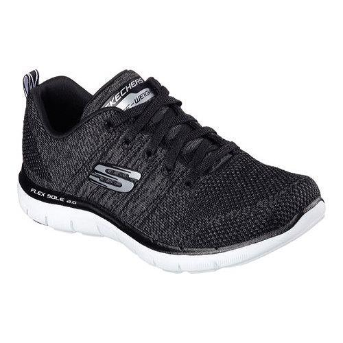 226a1a2245606 Shop Women's Skechers Flex Appeal 2.0 High Energy Training Shoe Black/White  - Free Shipping Today - Overstock - 12081236