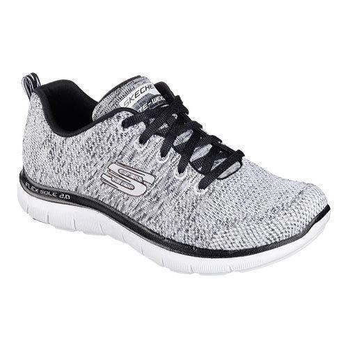 Women's Skechers Flex Appeal 2.0 High Energy Training Shoe White/Black