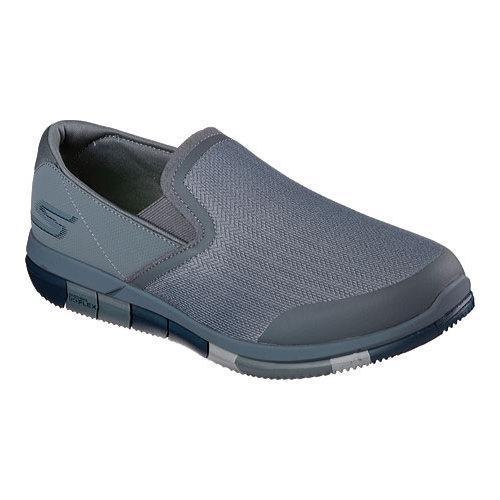 Men's Skechers GO FLEX Walk Slip On Walking Shoe Charcoal/Navy
