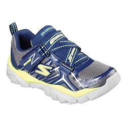 Boys' Skechers Electronz Z Strap Sneaker Navy/Lime